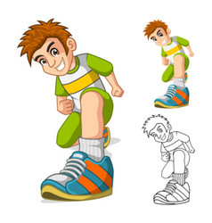 Perspective View of Kid Shoes Cartoon Character vector