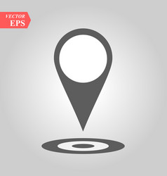 pin icon location sign isolated on white vector image