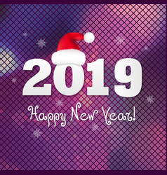 Poster 2019 new year vector