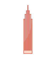 Red skyscraper cartoon vector