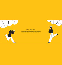 Runnning girl in walk use in web project and vector