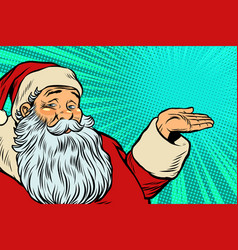 santa claus promoter vector image