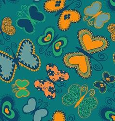 Seamless patter of butterflies vector