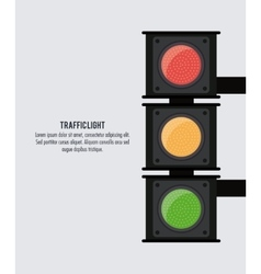 Semaphore trafficlight sign design vector