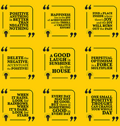 Set of motivational quotes about positive thinking vector