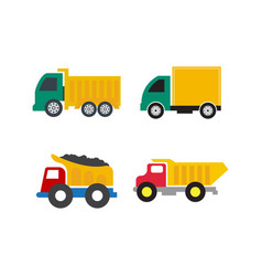 set truck icon design template isolated vector image