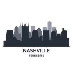 Silhouette nashville city tennessee vector