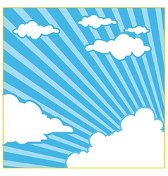 Sky Cloud Background vector image