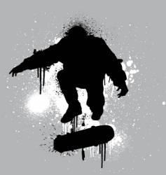 Stencil skater vector