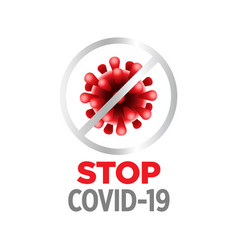 Stop covid19-19 fight against coronavirus pandemic vector