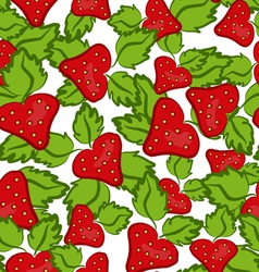 strawberry seamless vector image