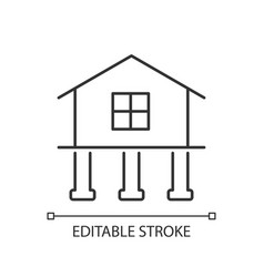 Strength and stability linear icon vector
