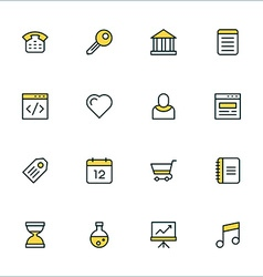Thin Line Icon Set Icons for Website Mobile vector