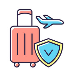 Travel insurance rgb color icon vector