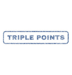 Triple points textile stamp vector
