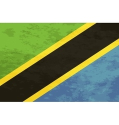 True proportions Tanzania flag with texture vector image