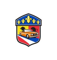 Vintage Cabriolet Fleur-de-Lis Crest Retro vector image