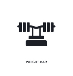 Weight bar isolated icon simple element from gym vector