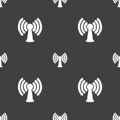 Wi-fi internet icon sign Seamless pattern on a vector