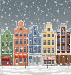 winter in town vector image