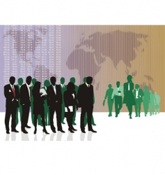 World business traders vector