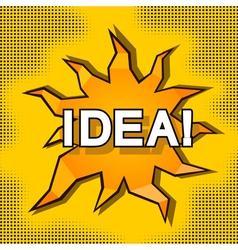 Cartoon of idea vector image vector image