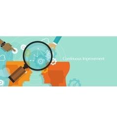 continuous improvement kaizen business concept vector image