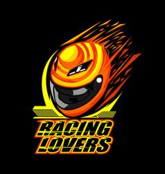 helmet racing design vector image