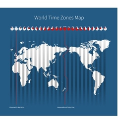 World Time Zones Map vector image vector image