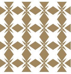 abstract geometric golden seamless floral pattern vector image