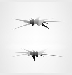 cracks in the ground ground crack set vector image vector image