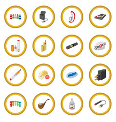 Electronic cigarettes icon circle vector