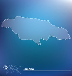 Map of Jamaica vector image