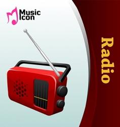 music radio vector image
