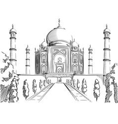Sketch of India Landmark Taj Mahal vector image vector image