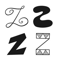decorative letters of the alphabet lettering for vector image vector image