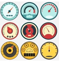 Speed control measure vector image
