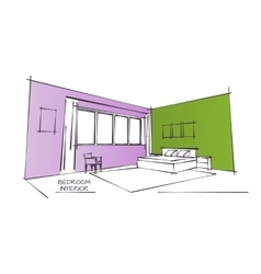 Color Interior Drawing vector image vector image