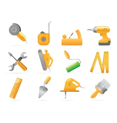 Icons for tools vector image vector image
