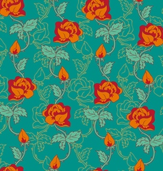 rose pattern orange vector image