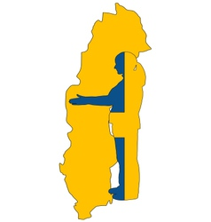 Swedish handshake vector image