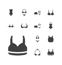 13 bra icons vector