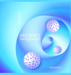 3d balls on blue background vector image