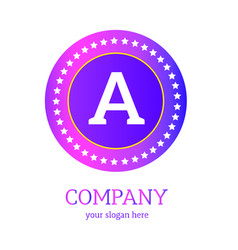 a letter logo design a icon colorful and modern vector image