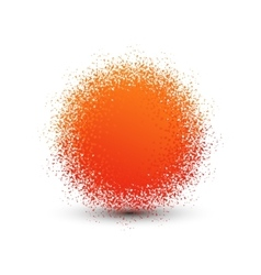Abstract orange fluffy isolated sphere with shadow vector image