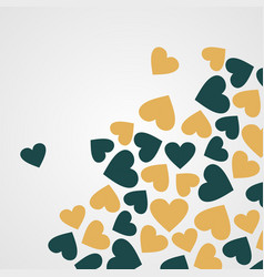Abstract seamless heart pattern ink black vector