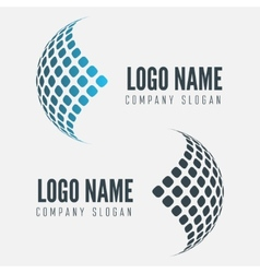 Abstract web icon globe abstract logo vector image
