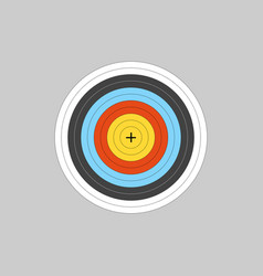 Aim for archery crossbow on grey background vector