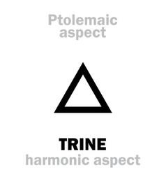 Astrology trine aspect vector