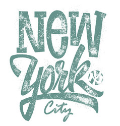 awesome new york city typography t-shirt print vector image